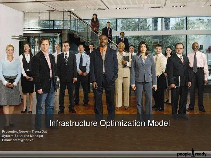 Infrastructure Optimization Model<br />Presenter: Nguyen Trong Dat<br />System Solutions Manager<br />Email: datnt@hpt.vn...