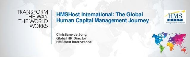 HMSHost International: The Global Human Capital Management Journey