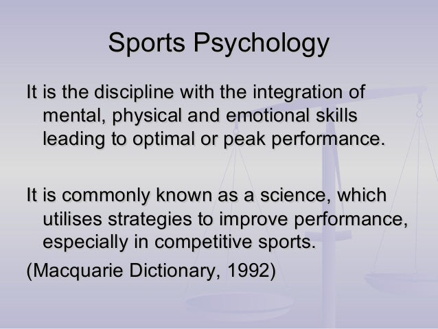 Sports thesis