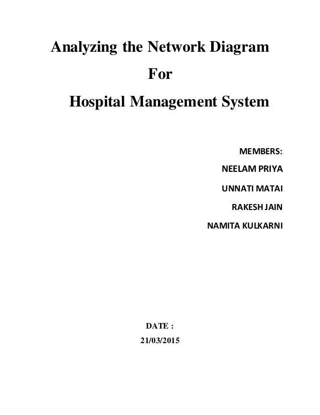 Hospital management system network diagram analyzing the network diagram for hospital management system members neelam priya unnati matai rakesh jain ccuart Choice Image