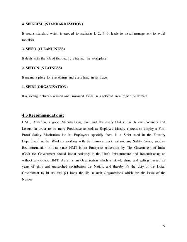 summer training report for hmt ajmer