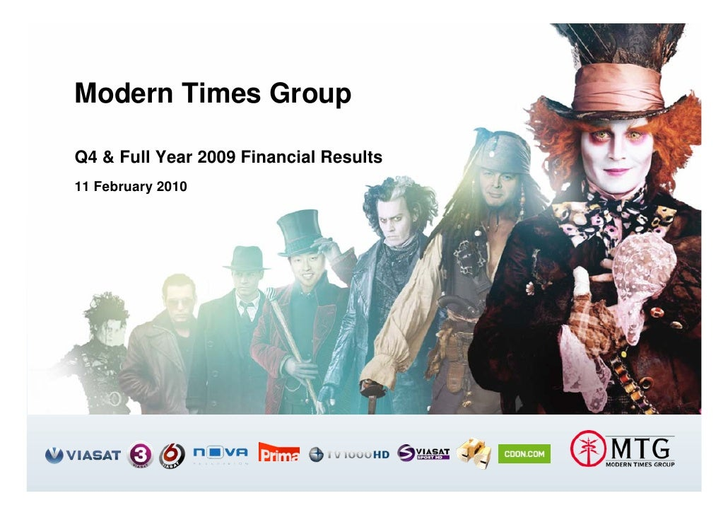Modern Times Group  Q4 & Full Year 2009 Financial Results 11 February 2010