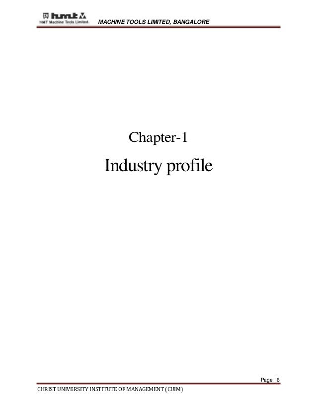 Hmt project report