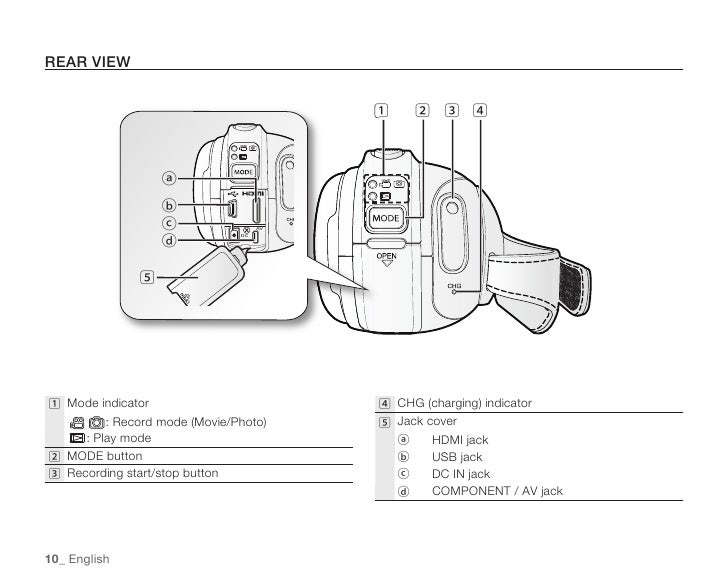 Samsung Camcorder HMX-H100N User Manual