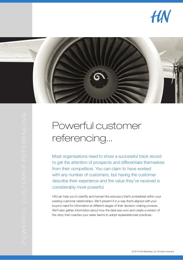 POWERFUL CUSTOMER REFERENCING                                Powerful customer                                referencing....