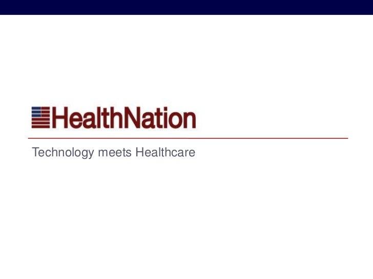HEALTHNATIONTechnology meets Healthcare