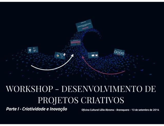 Workshop Desenvolvimento de Projetos - Criatividade e Inovação