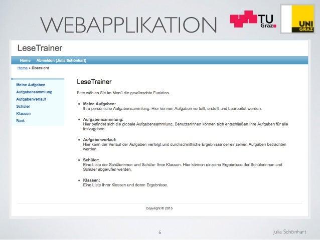 Julia Schönhart WEBAPPLIKATION 6