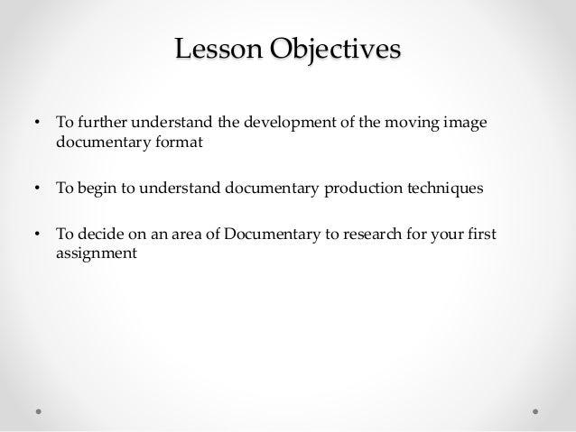 Documentary week 3 Slide 2