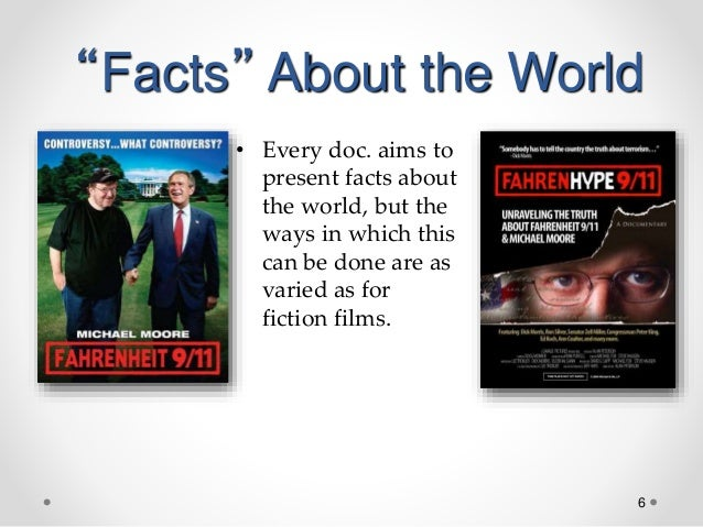"""6 """"Facts"""" About the World • Every doc. aims to present facts about the world, but the ways in which this can be done are a..."""