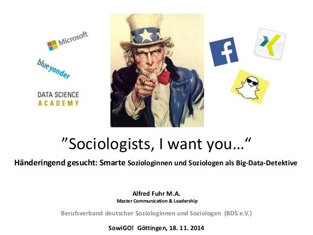Alfred Fuhr M.A.  Master Communication & Leadership  Berufsverband deutscher Soziologinnen und Soziologen (BDS e.V.)  Sowi...