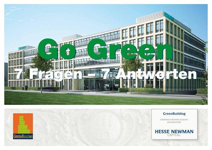 Go Green 7 Fragen – 7 Antworten                     GreenBuilding                  siemens-niederlassunG                  ...