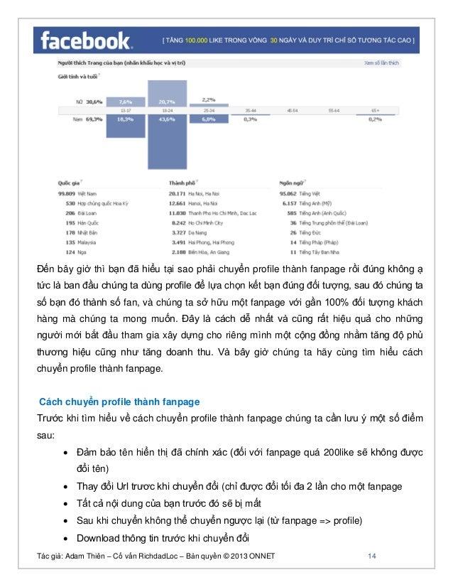 Tác giả: Adam Thiên – Cố vấn RichdadLoc – Bản quyền © 2013 ONNET 15 Trong phần này chúng ta lưu ý nên download thông tin t...