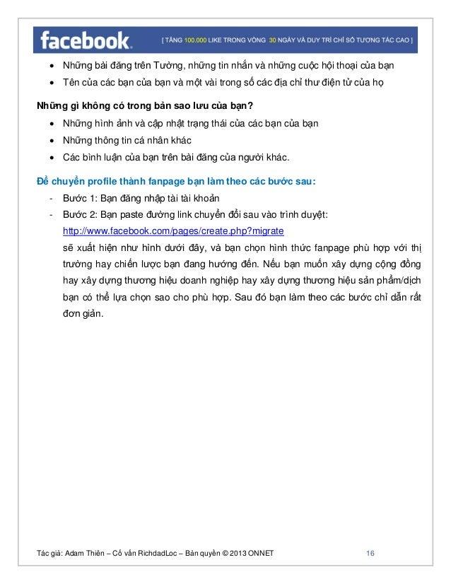Tác giả: Adam Thiên – Cố vấn RichdadLoc – Bản quyền © 2013 ONNET 17 Sau khi hoàn tất bạn sẽ sở hữu một cồng đồng mà bạn mo...