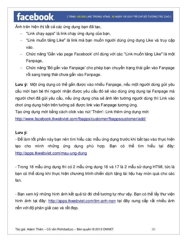 Tác giả: Adam Thiên – Cố vấn RichdadLoc – Bản quyền © 2013 ONNET 31 - Bạn có thể xem phần này để xem thông tin cập nhật th...