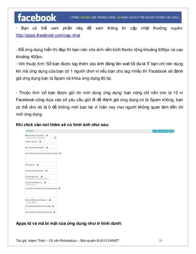 Tác giả: Adam Thiên – Cố vấn RichdadLoc – Bản quyền © 2013 ONNET 32 - Trong trường hợp bạn giới hạn hiện thị Fanpage theo ...