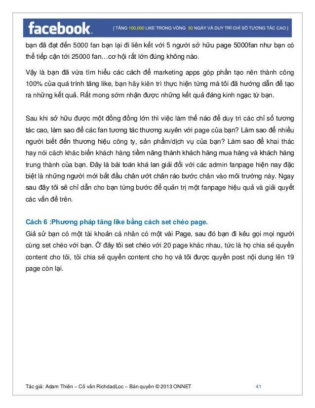 Tác giả: Adam Thiên – Cố vấn RichdadLoc – Bản quyền © 2013 ONNET 42 Cách chia quyền quản trị: Đầu tiên bạn đăng nhập vào t...