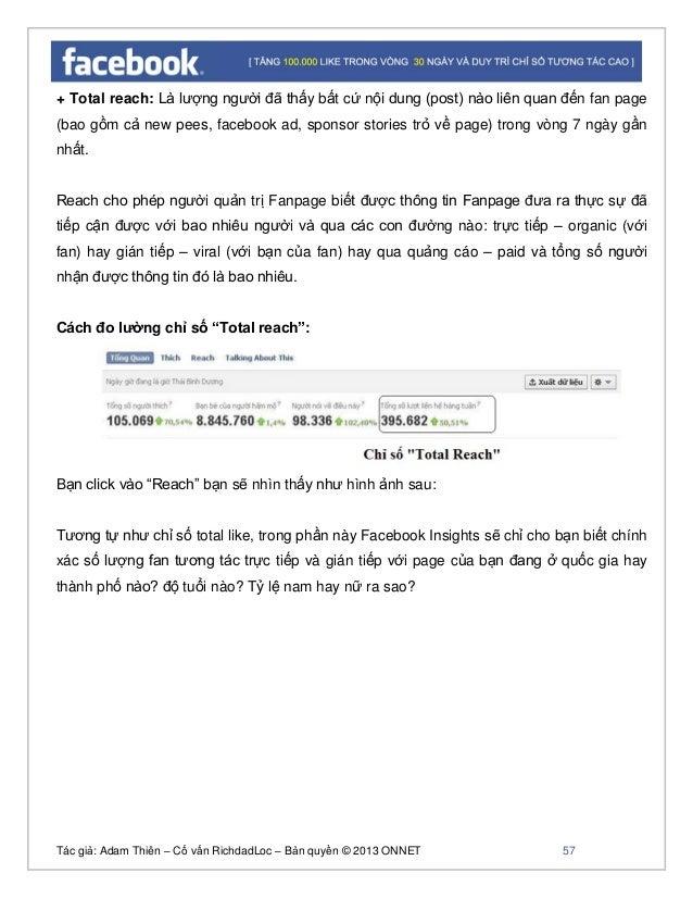 Tác giả: Adam Thiên – Cố vấn RichdadLoc – Bản quyền © 2013 ONNET 58  Tổng hợp: Tổng số người dùng fan hoặc nofan thấy pos...