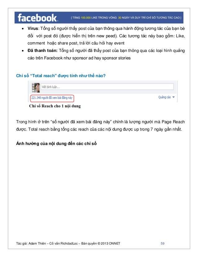 Tác giả: Adam Thiên – Cố vấn RichdadLoc – Bản quyền © 2013 ONNET 60 Khả năng hiển thị nội dung tới người dùng: