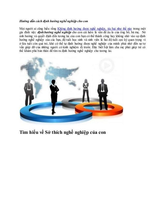 Hướng dẫn cách định hướng nghề nghiệp cho con  Mọi người ai cũng hiểu rằng Không định hướng được nghề nghiệp, tác hại như ...