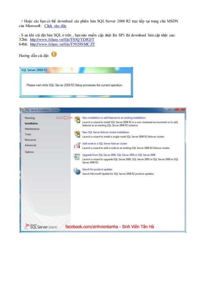 Hướng dẫn cài sql server 2008 r2 đăng nhập với quyền sa Slide 2