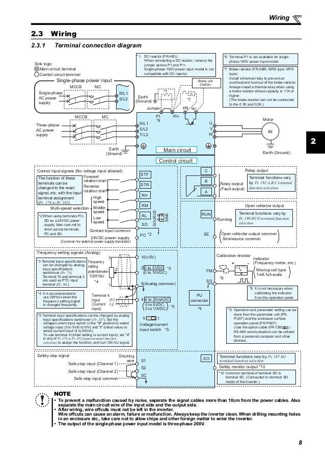 wiring mitsubishi d700 d700 drive