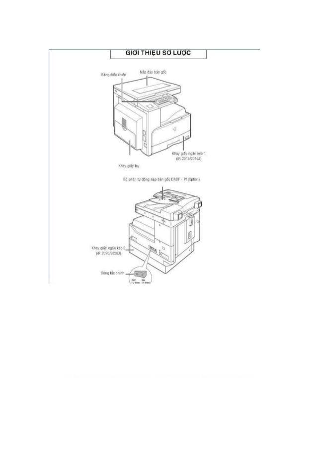 Hướng dẫn sử dụng máy photocopy canon ir 2420l
