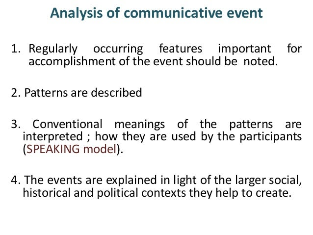 communication enthography The ethnography of communication presents the terms and concepts which are essential for discussing how and why language is used and how its use varies in different cultures presents the.