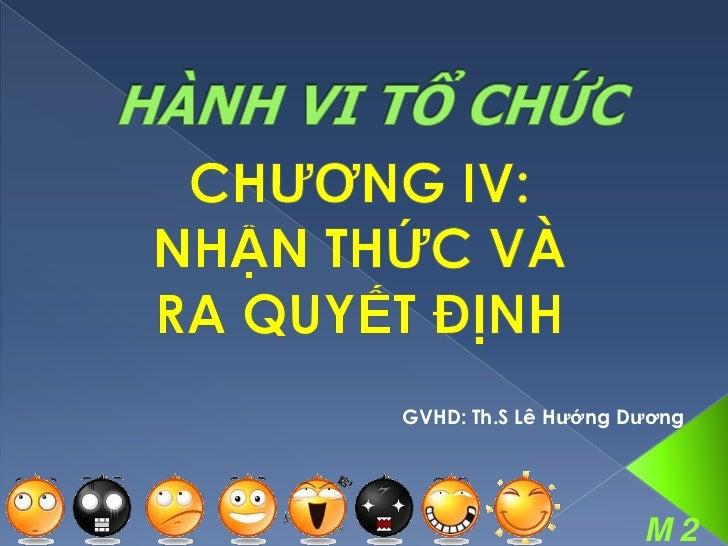 GVHD: Th.S Lê Hƣớng Dƣơng                     M2