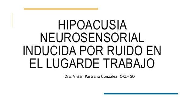 Hipoacusia por ruido laboral