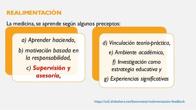 Se define como la habilidad que desarrolla el docente al compartir información específica con el médico residente sobre su...
