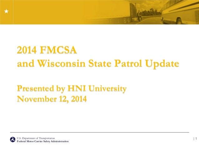 2014 Fmcsa Update