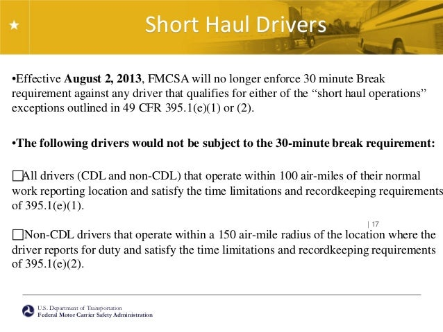 2014 fmcsa update for Who is subject to federal motor carrier safety regulations