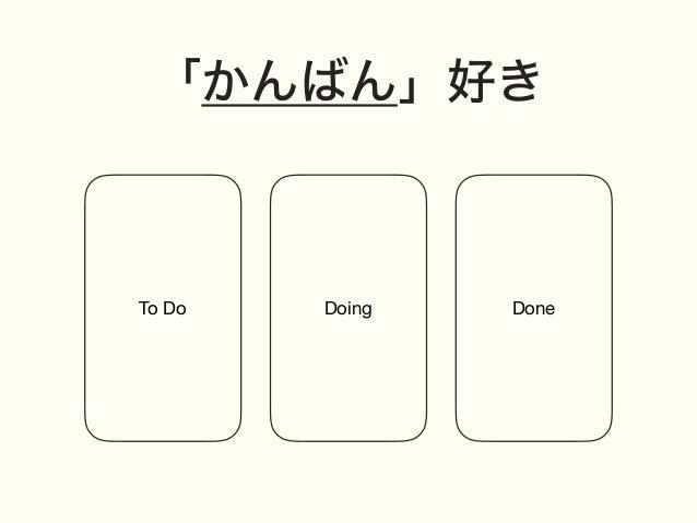 「かんばん」好き To Do Doing Done