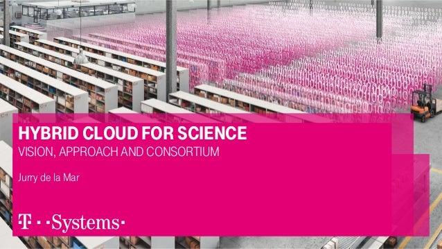 hybrid cloud for science vision, approach and consortium Jurry de la Mar