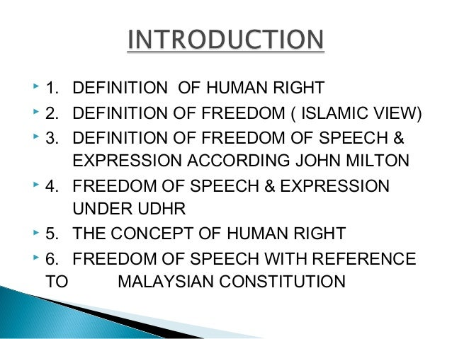 comparison of freedom of speech malaysia Defamation law and free speech,  it is an attempt to balance the private right to protect one's reputation with the public right to freedom of speech.