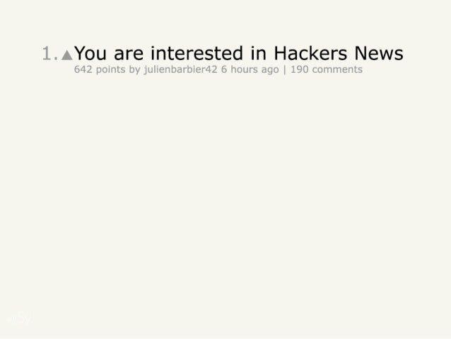HNWatcher - Hackers News tracking made easy Slide 2