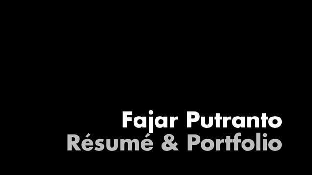 Fajar Putranto Résumé & Portfolio