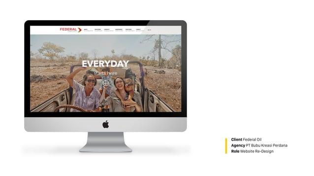 Client Federal Oil Agency PT Bubu Kreasi Perdana Role Website Re-Design