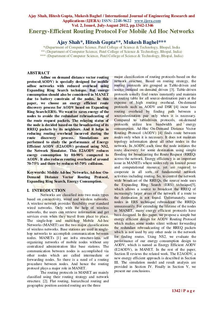 Ajay Shah, Hitesh Gupta, Mukesh Baghel / International Journal of Engineering Research and                  Applications (...