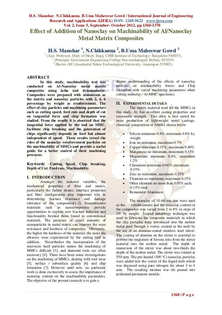 H.S. Manohar, N.Chikkanna, B.Uma Maheswar Gowd / International Journal of Engineering           Research and Applications ...