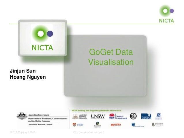 GoGet Data Visualisation Jinjun Sun Hoang Nguyen  NICTA Copyright 2010  From imagination to impact
