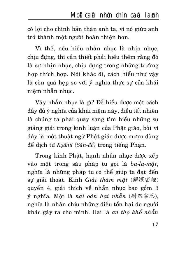 17 Moät caâu nhòn chín caâu laønh coù lôïi cho chính baûn thaân anh ta, vì noù giuùp anh trôû thaønh moät ngöôøi hoaøn thi...