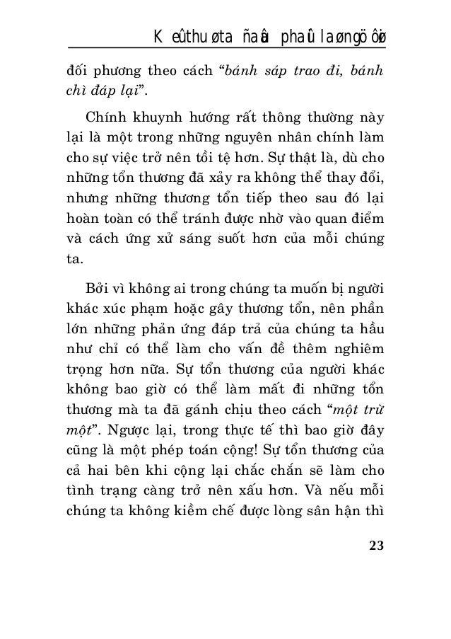 """23 Keû thuø ta ñaâu phaûi laø ngöôøi ñoái phöông theo caùch """"baùnh saùp trao ñi, baùnh chì ñaùp laïi"""". Chính khuynh höôùng..."""