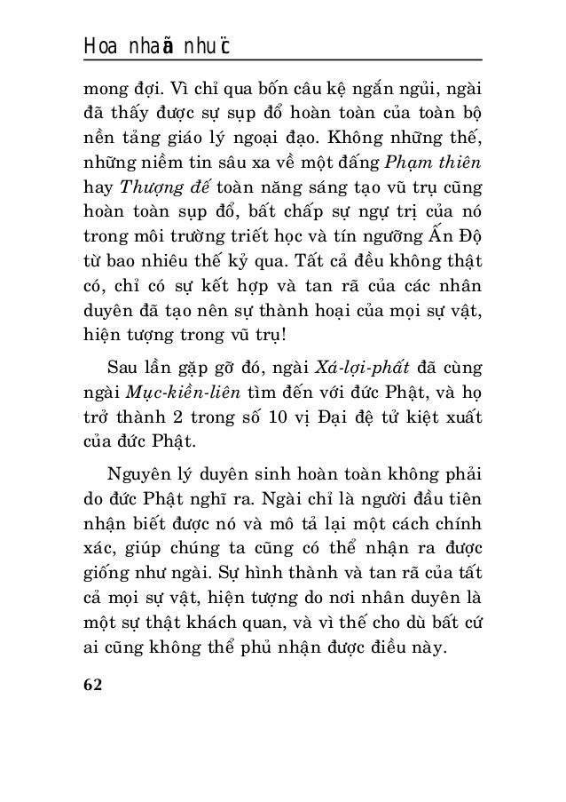 Hoa nhaãn nhuïc 62 mong ñôïi. Vì chæ qua boán caâu keä ngaén nguûi, ngaøi ñaõ thaáy ñöôïc söï suïp ñoå hoaøn toaøn cuûa to...