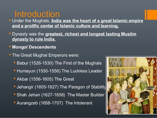 mughal empire ppt architecture