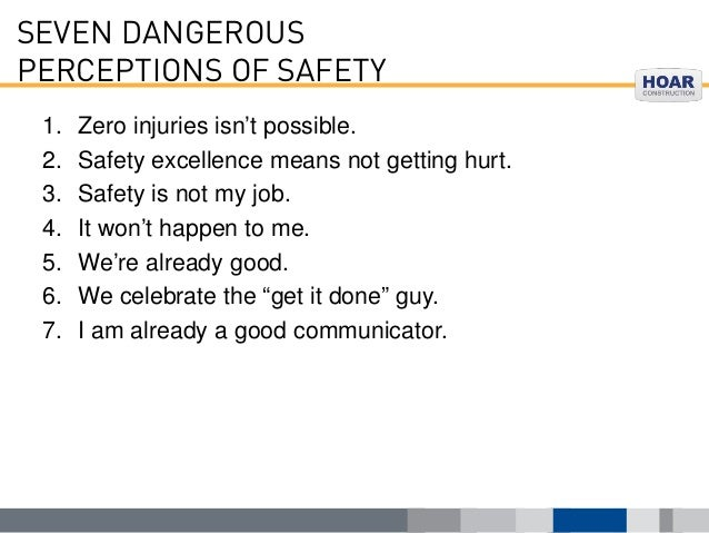 WHAT IS SAFETY, REALLY?