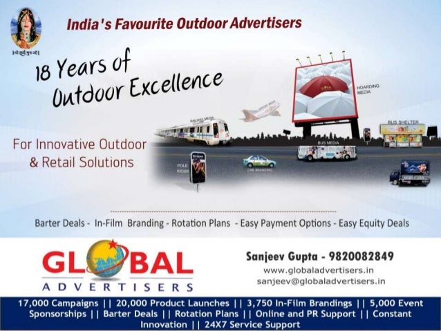 Global Advertisers Global Advertisers is pleased to present its special offer package to clients in India and abroad. Henc...