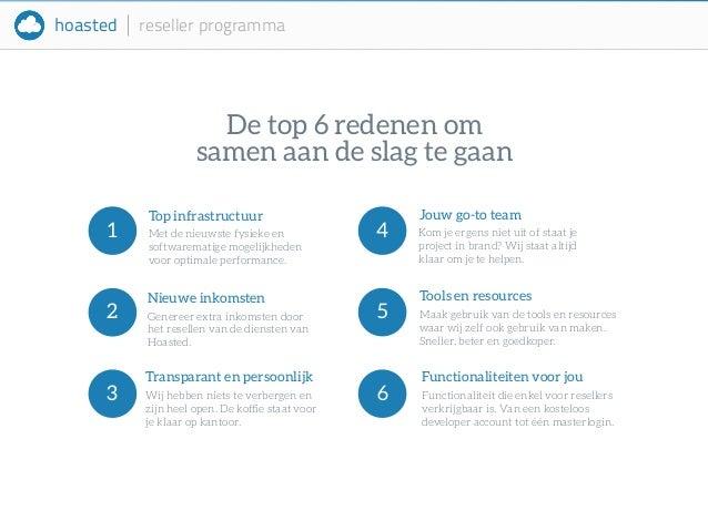 hoasted reseller programma  De top 6 redenen om  samen aan de slag te gaan  Jouw go-to team  Kom je ergens niet uit of sta...