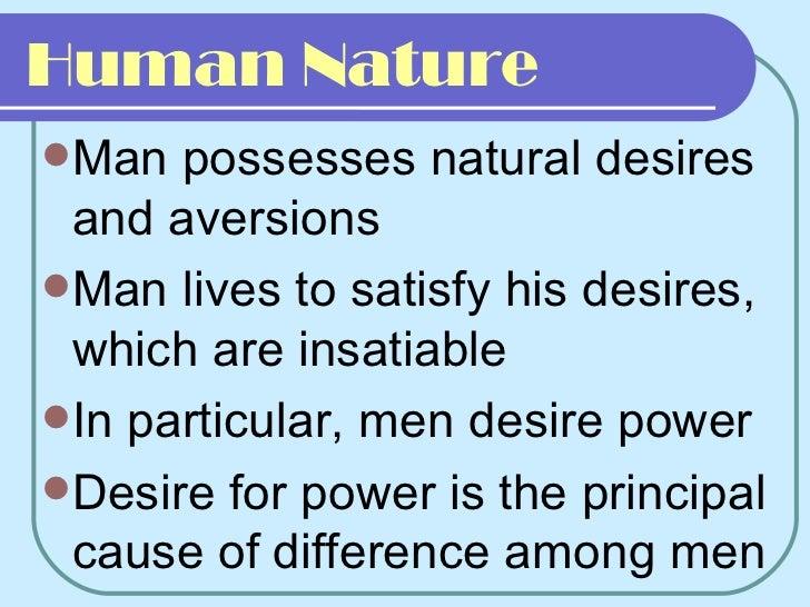 hobbes and human nature